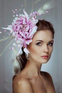 украшение для волос с перьями - ободок картинка