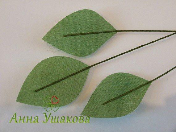 МК цветок шиповника из шелковой ткани, мастер Анна Ушакова