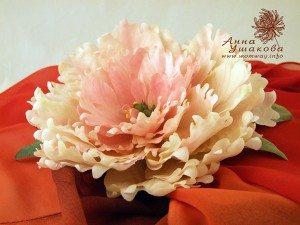 цветы из шелка, древовидный пион