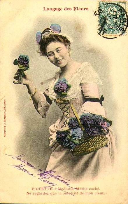 Язык цветов в старинных открытках