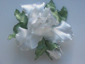 цветы из ткани - полиэстер