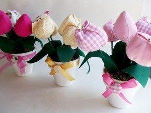 цветы из ткани шитые