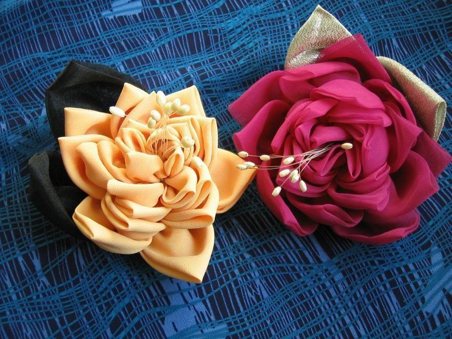 Как сделать цветы своими руками. Из:бумаги, лент, ткани 43