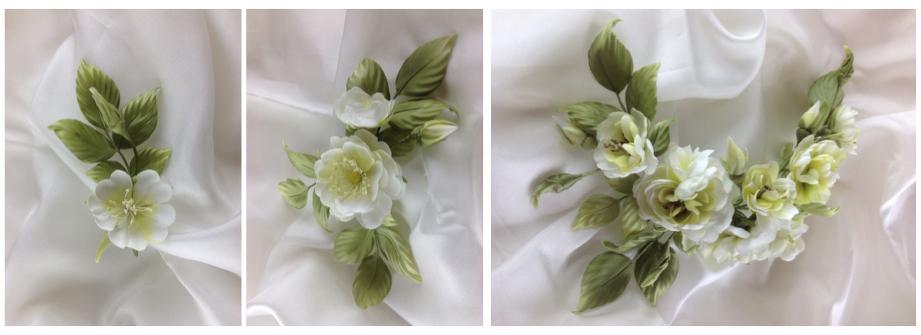 Цветы из шелка на тест-драйве курса Tanjobana изображение