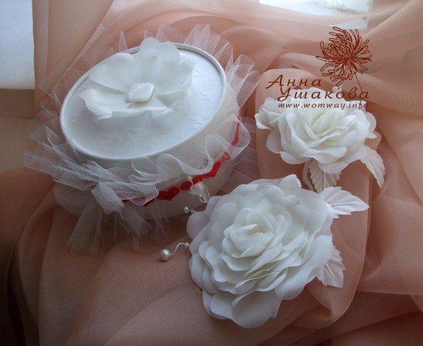 Мой первый заказ на свадебный цветок из шелка