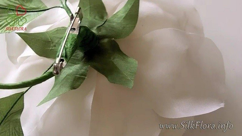цветы из ткани, Мастер-класс роза из ткани, Надежда Череда, SilkFlora