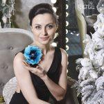 цветок украшение из ткани на вечернее платье фото