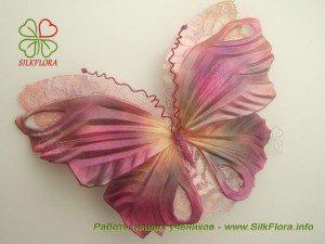 Бабочка из шелка