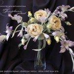 Букет цветов из шелка Tanjobana