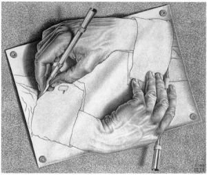 "Эшер ""Рисующие руки"""