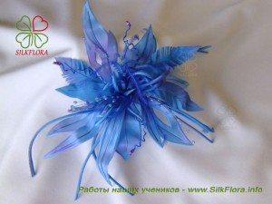 цветок из шелка