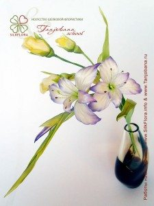Цветок из шелка Гладиолус