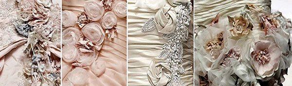 фактура платьев с цветами