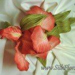 Цветок Ириса - брошь из ткани - натуральный шелк