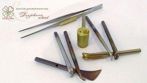 Набор профессиональных инструментов для японской техники цветоделия Tanjobana