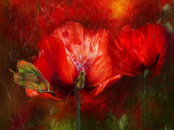 Самый волшебный цветок из шелка