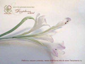 Цветок из шелка Колокольчики