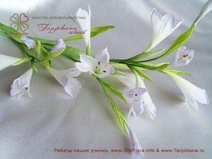 Цветок из шелка Колокольчик