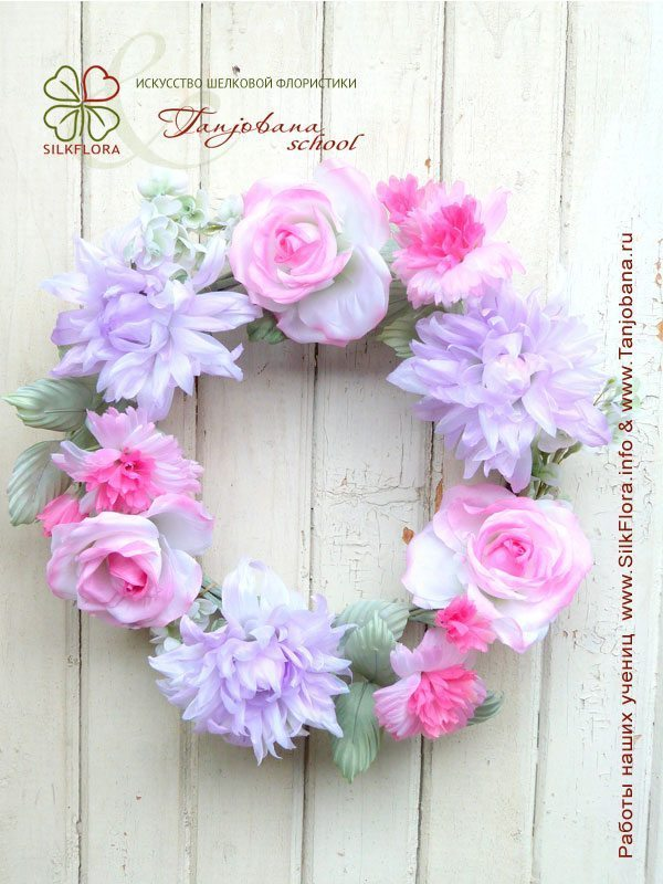 Конкурсный букет цветов из шелка от Анастасии Георгенсон