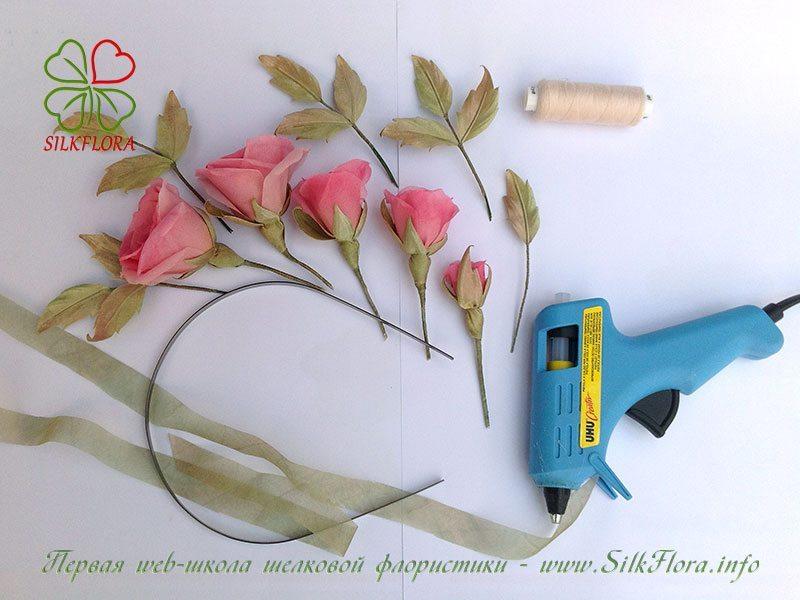 Мастер-класс ободок с розами