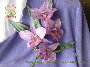 фото орхидея из шелка