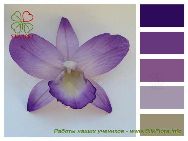 Орхидея их шелка, работа Ирины Яблоковой