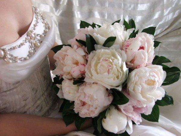 пионы - букет невесты