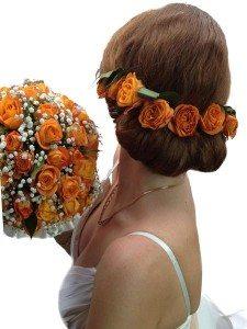 Свадебные цветы из шелка