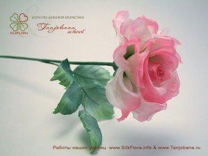 цветок из шелка Роза Анабель