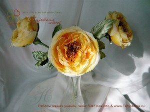 Цветок из шелка Роза Colette
