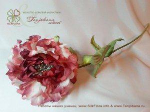 цветок из шелка роза фея