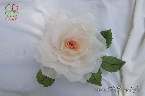 : Бесплатный видео-урок «Роза из ткани за 30 минут» от знаменитого художника-модельера по цветам из ткани Надежды Череда.