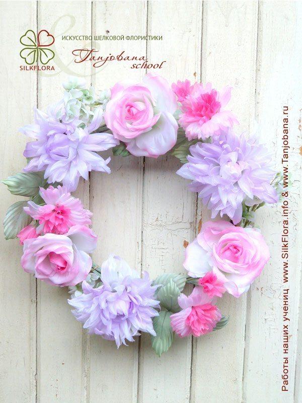 Букет из шелка Розовая весна
