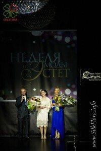 Цветы из шелка на неделе моды «Эстет» ЭКО-день 2012 г Поздравления Анны Ушаковой и Александры Грузиновой за представленную коллекцию Шелковая «Флоренция»
