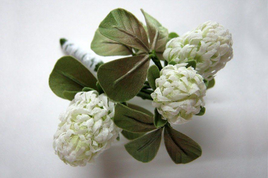 Конкурс шелковых цветов SilkFlora 2011. «Клеверная дымка» — клевер из шелка