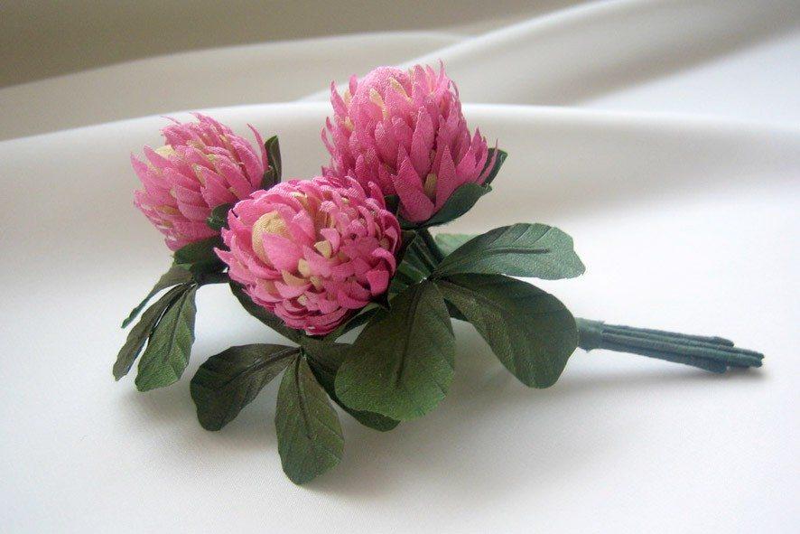 Конкурс шелковых цветов SilkFlora 2011. «В ожидании лета» — клевер из шелка
