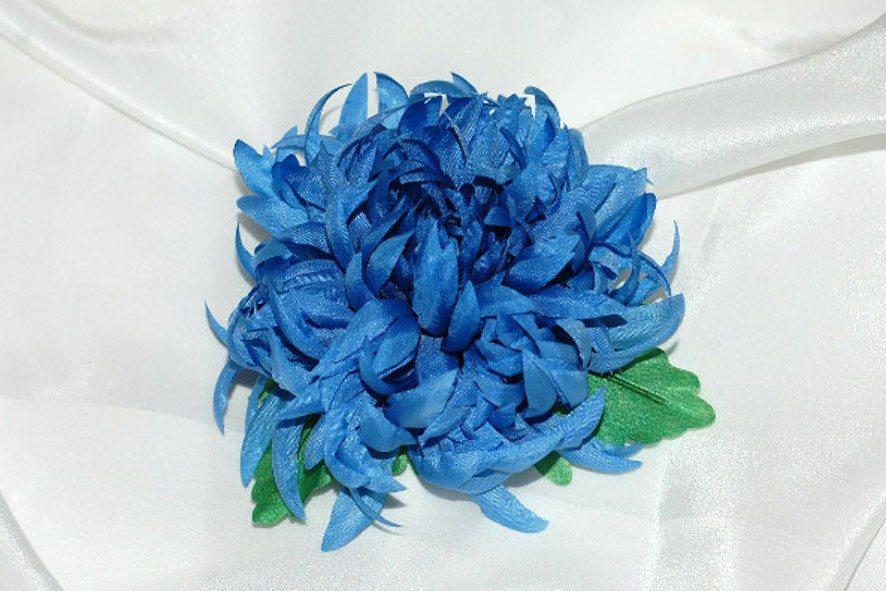 Конкурс шелковых цветов SilkFlora 2011. «Сердце снежной королевы» — хризантема из шелка