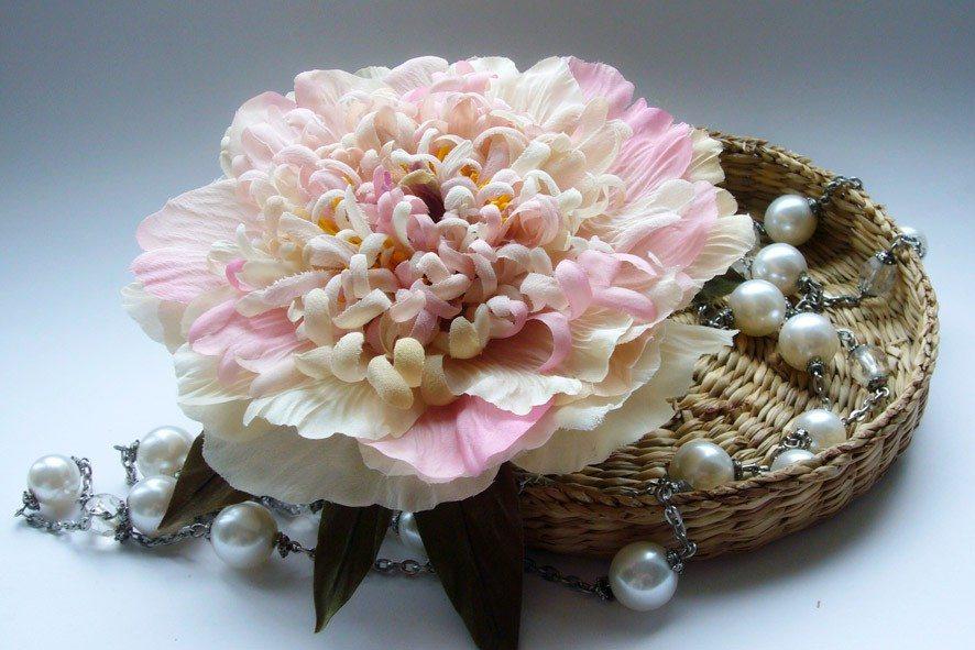 Конкурс шелковых цветов SilkFlora 2011. «Винтаж» — пион из шелка