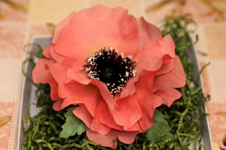 Конкурс шелковых цветов SilkFlora 2011. Цветок мака из шелка — «Гала»