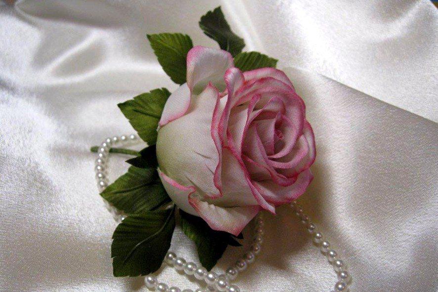 Конкурс шелковых цветов SilkFlora 2011. «Изящное вдохновение» — шелковая роза сделанная в японской технике