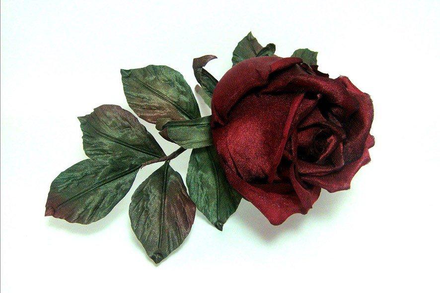 Конкурс шелковых цветов SilkFlora 2011. «Роза Бордо» — роза из шелка