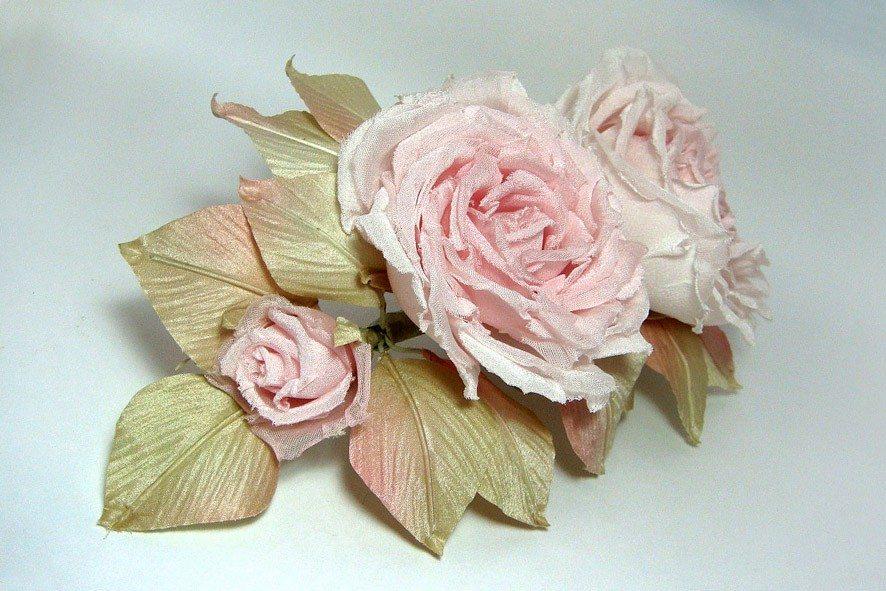 Конкурс шелковых цветов SilkFlora 2011. «Нежность» — роза из шелка
