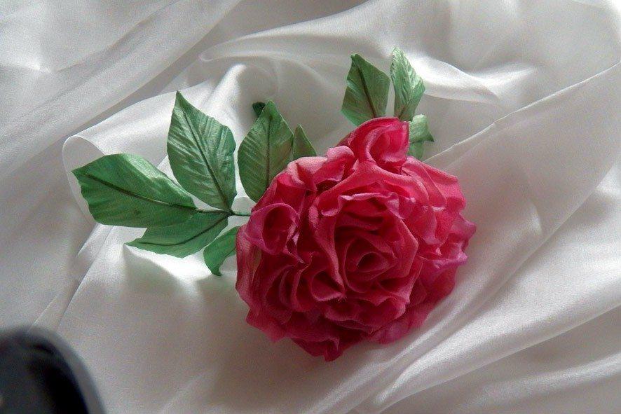 Конкурс шелковых цветов SilkFlora 2011. «Роза с секретом»