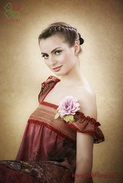 роза из шелка anna-ushakova