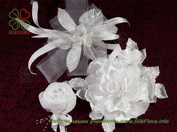 Цветы из ткани без инструментов
