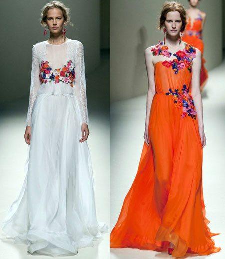 платье с цветами из ткани