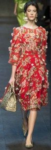 Цветочное платье от Valentino