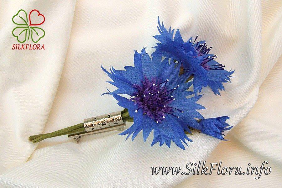 Как сделать цветок василёк 418