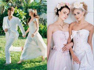 свадебные веночки с цветами