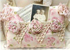 Украшение интерьера с розами в винтажном стиле